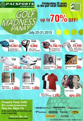 Pacsports Manila Golf Madness Discount Sale