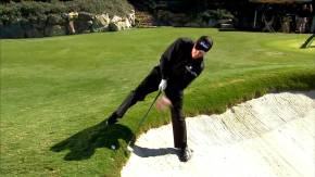 Phil Mickelson Backwards Wedge Shot